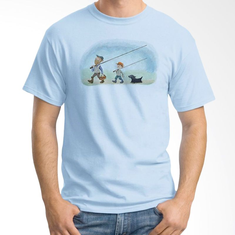 Ordinal Fishing Edition 04 Biru Muda Kaos Pria
