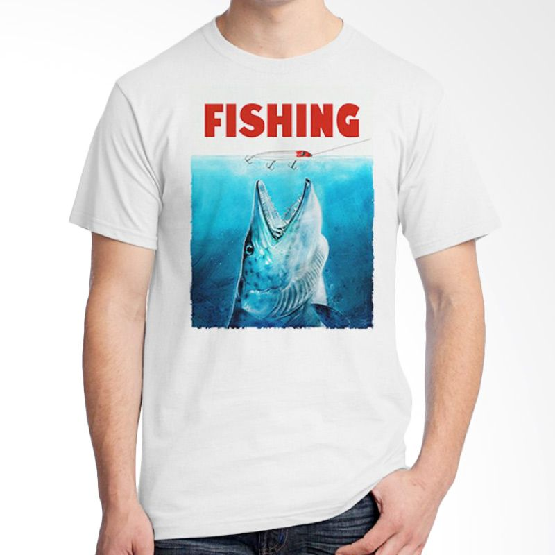 Ordinal Fishing Edition 09 Putih Kaos Pria