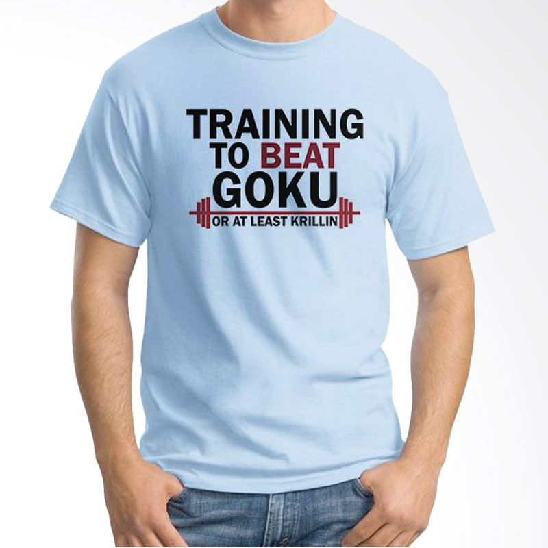 Ordinal Fitness To Beat Goku Biru Muda Kaos Pria