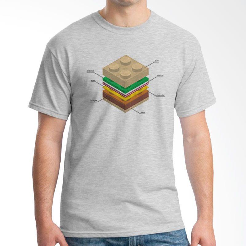 Ordinal Foodtastic 03 Grey T-Shirt Pria