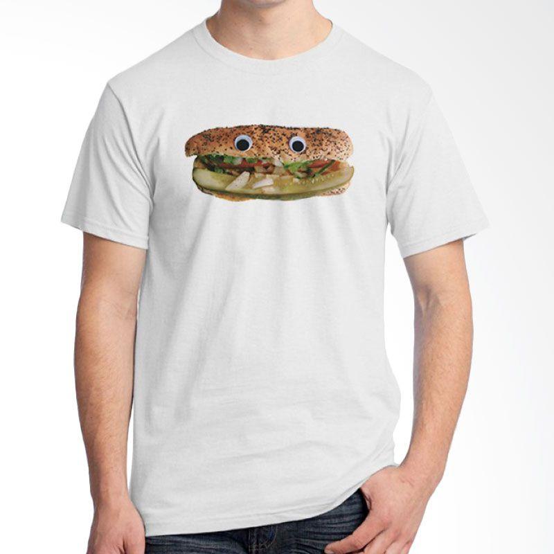 Ordinal Foodtastic 04 Putih T-Shirt Pria
