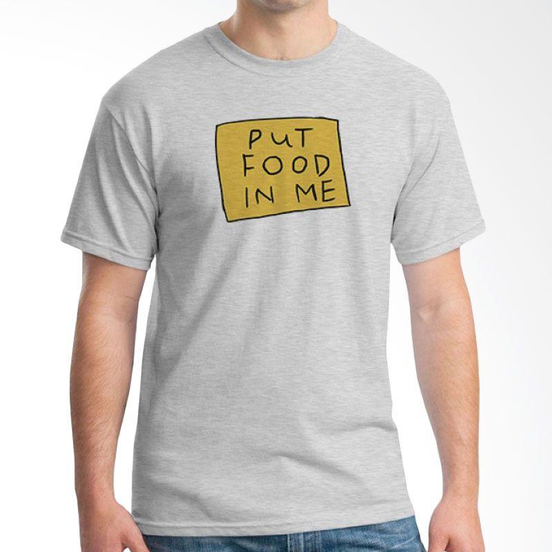 Ordinal Foodtastic 05 Grey T-Shirt Pria