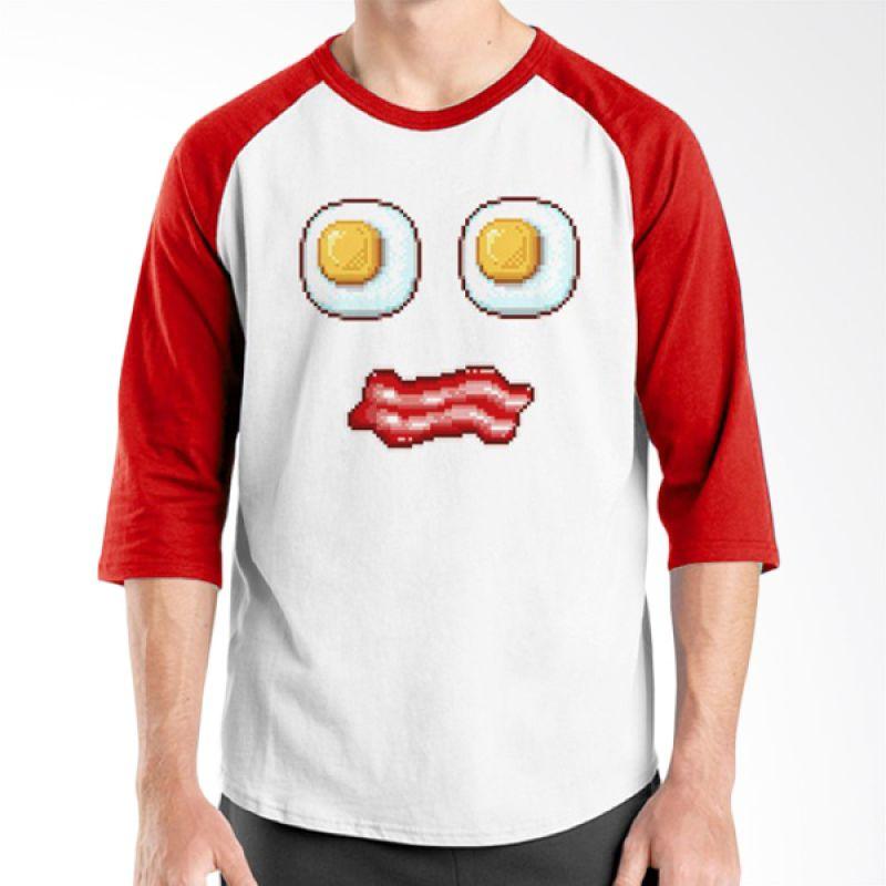 Ordinal Foodtastic 08 Merah Putih Kaos Pria