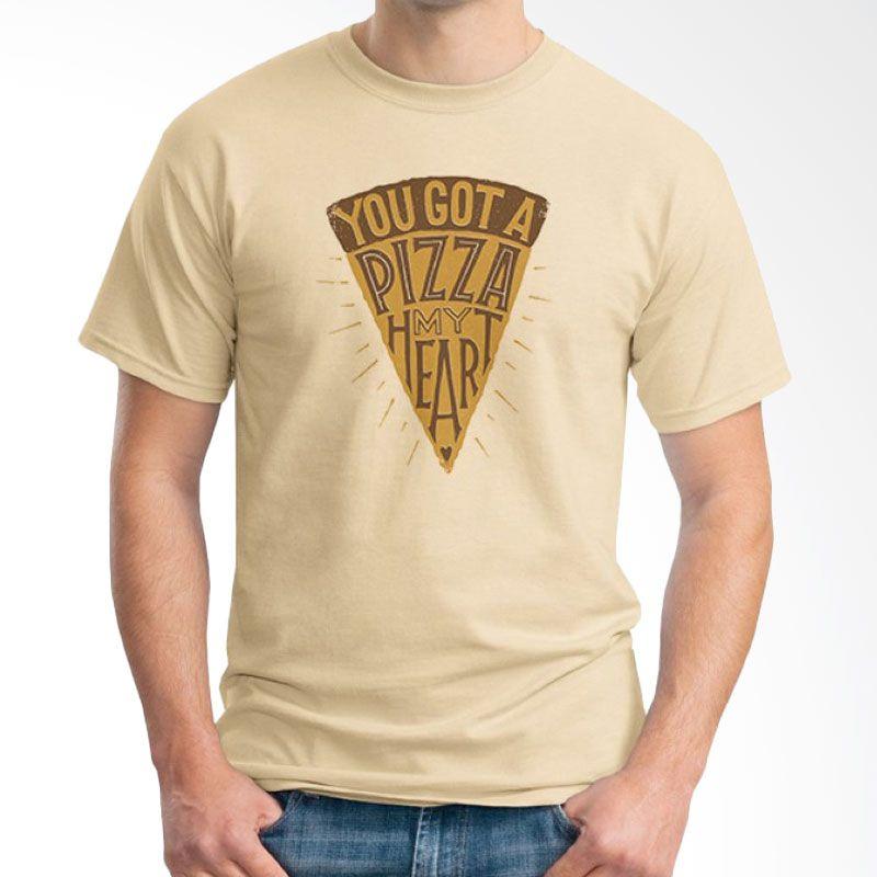 Ordinal Foodtastic 09 Coklat Krem T-Shirt Pria