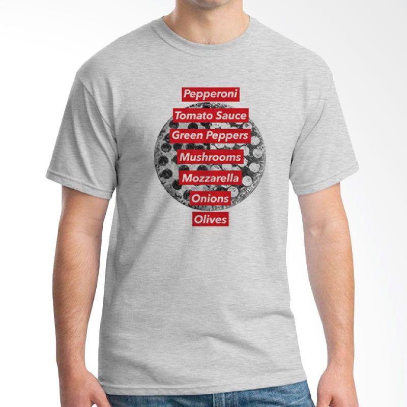 Ordinal Foodtastic 11 Grey T-Shirt Pria