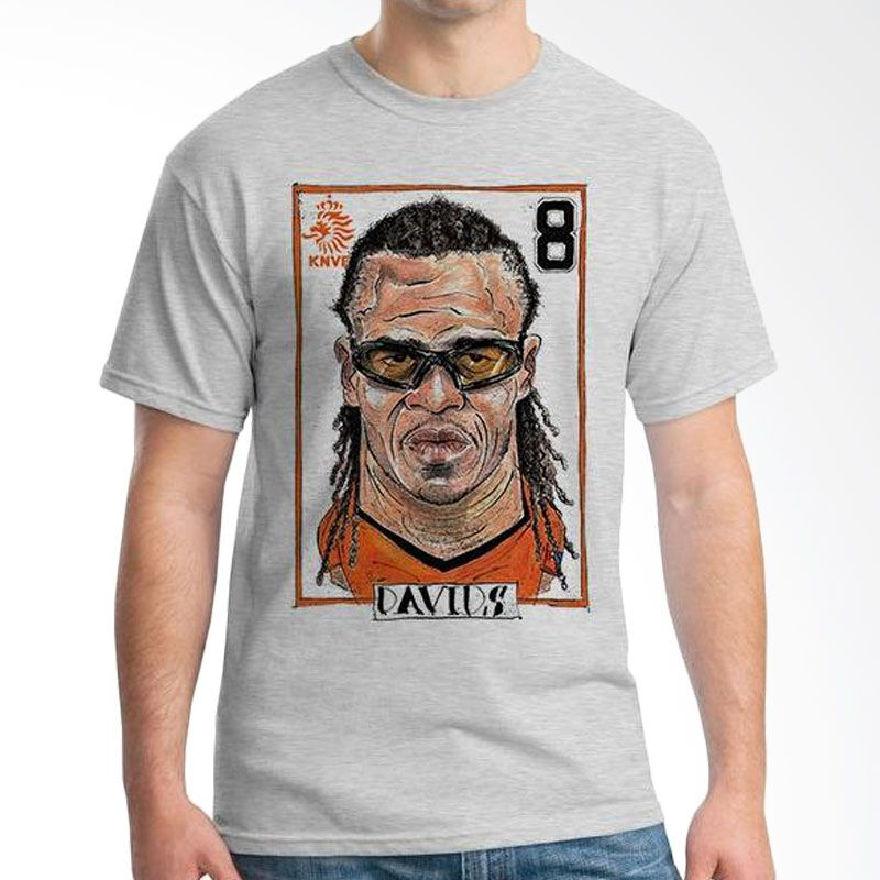 Ordinal Football Player Davids Edition 19 Abu-abu Kaos Pria