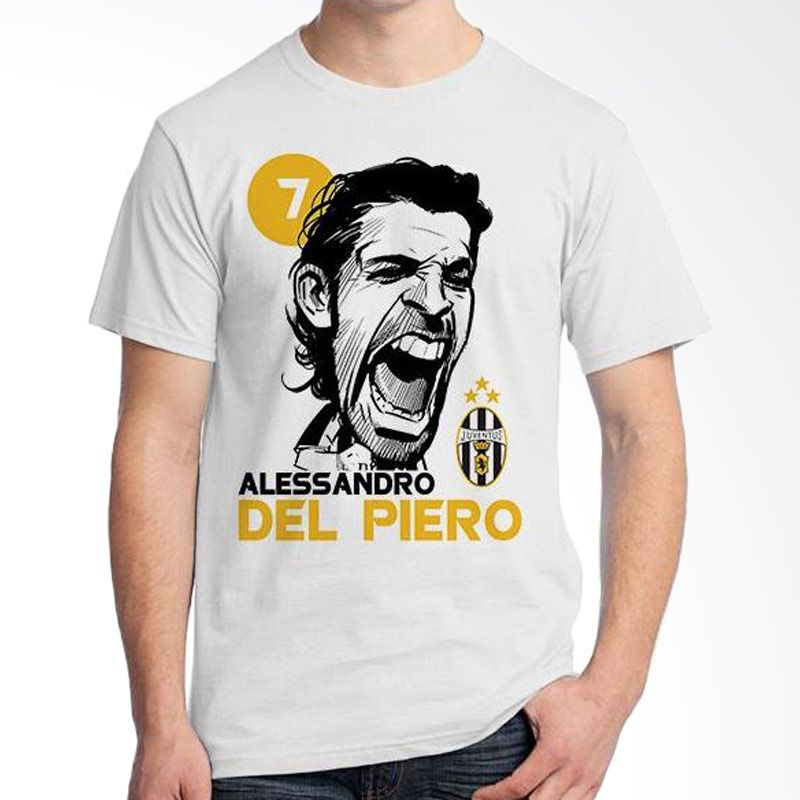 Ordinal Football Player Del Piero Edition 21 Putih Kaos Pria