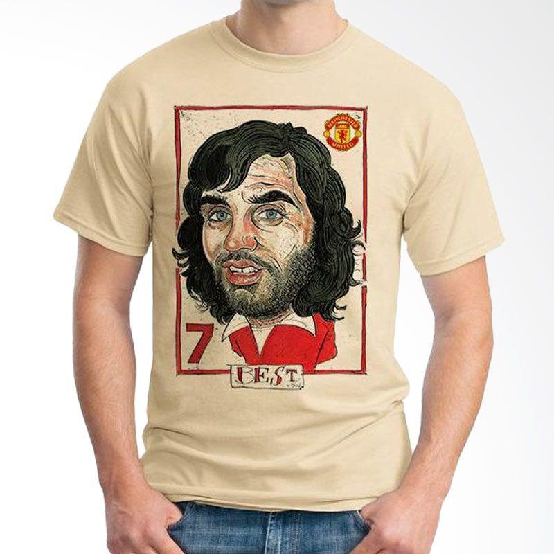 Ordinal Football Player Edition 09 Best Coklat Krem T-Shirt Pria