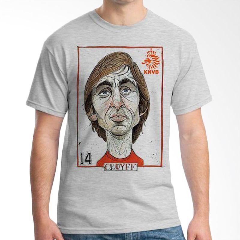 Ordinal Football Player Edition 16 Cruyff Grey T-Shirt Pria