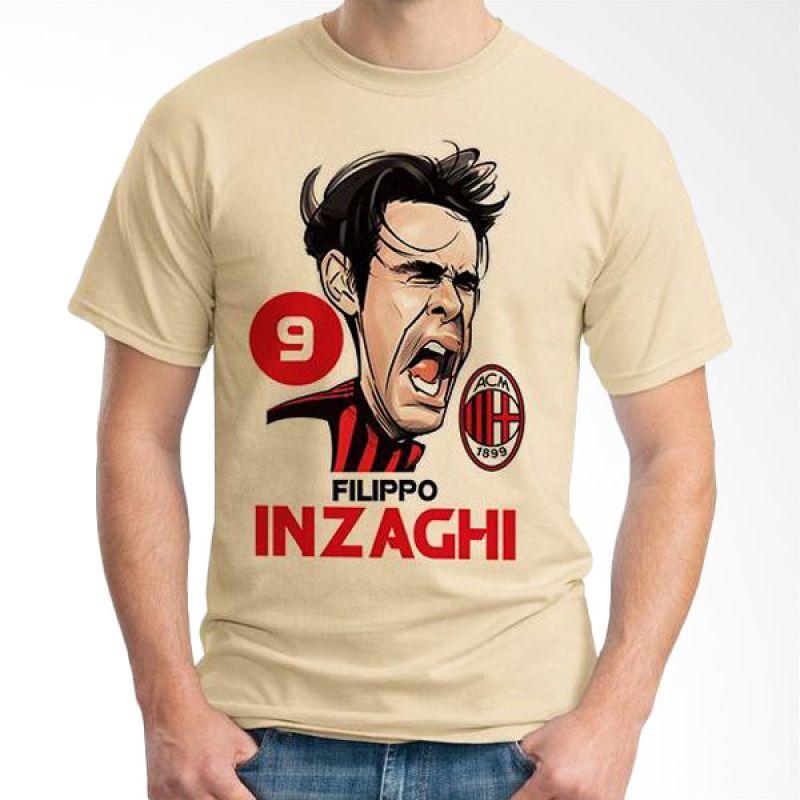 Ordinal Football Player Edition 33 Coklat Krem T-Shirt Pria