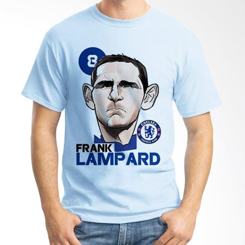 Ordinal Football Player Edition 39 Biru Muda T-Shirt Pria