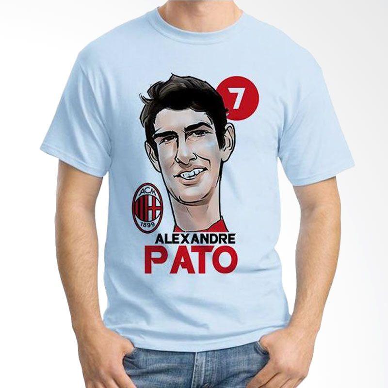 Ordinal Football Player Edition 58 Pato Biru Muda T-Shirt Pria