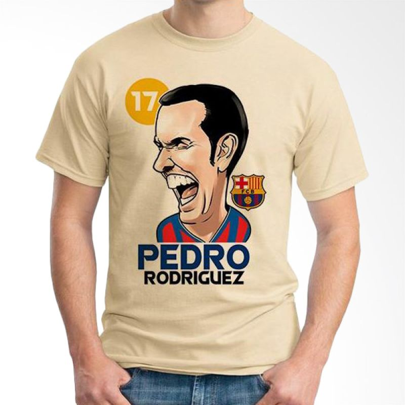 Ordinal Football Player Edition 59 Pedro Coklat Krem T-Shirt Pria