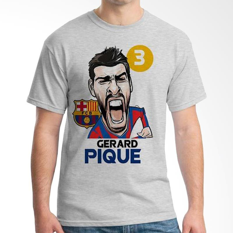 Ordinal Football Player Edition 61 Pique Grey T-Shirt Pria