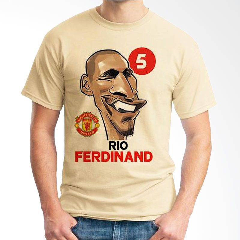 Ordinal Football Player Edition 66 Ferdinand Coklat Krem T-Shirt Pria