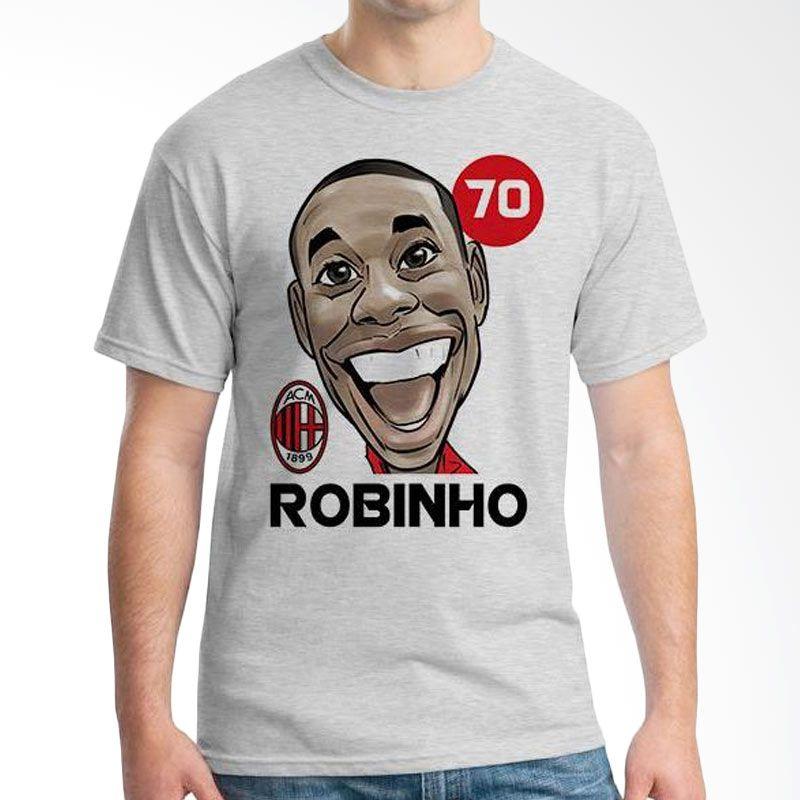 Ordinal Football Player Edition 67 Robinho Grey T-Shirt Pria