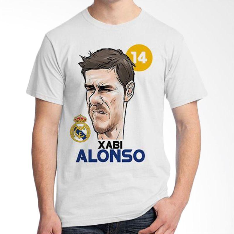 Ordinal Football Player Edition 83 Xabi Alonso Putih Kaos Pria