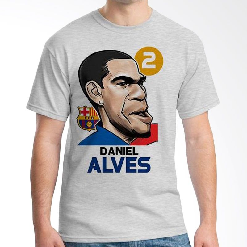 Ordinal Football Player Edition Alves 04 Abu-abu Kaos Pria