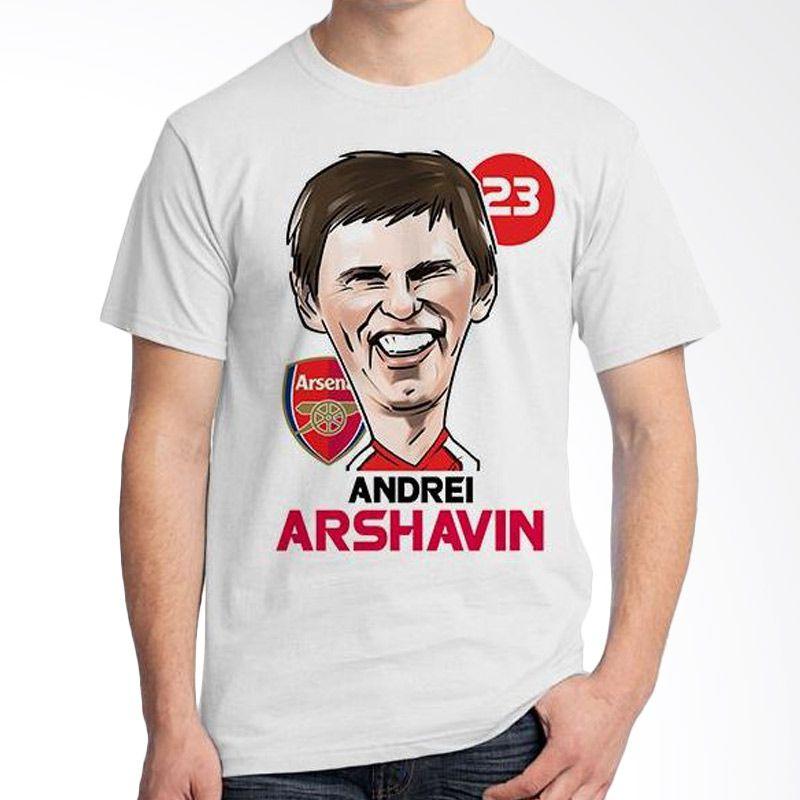 Ordinal Football Player Edition Arshavin 05 Putih Kaos Pria