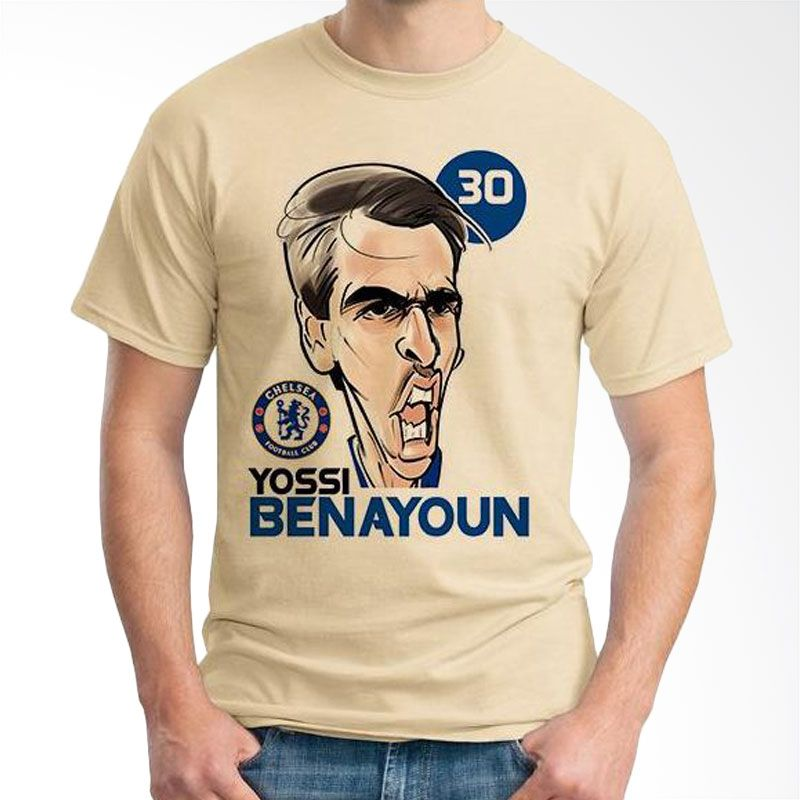 Ordinal Football Player Edition Benayoun 06 Coklat Krem Kaos Pria