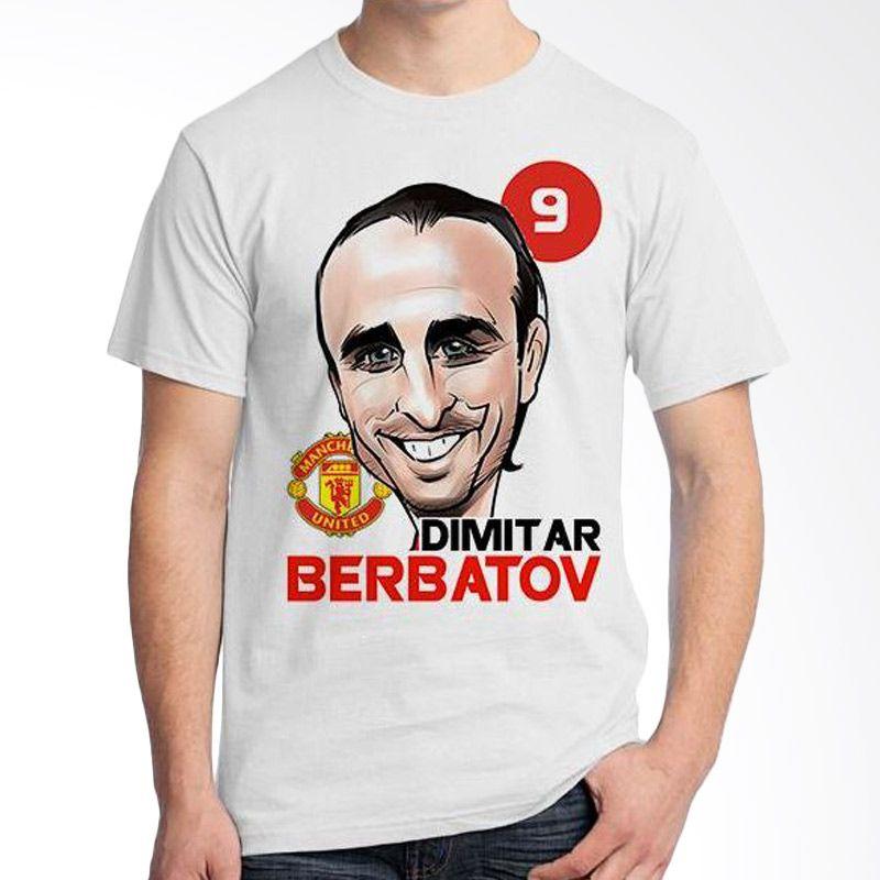 Ordinal Football Player Edition Berbatov 07 Putih Kaos Pria