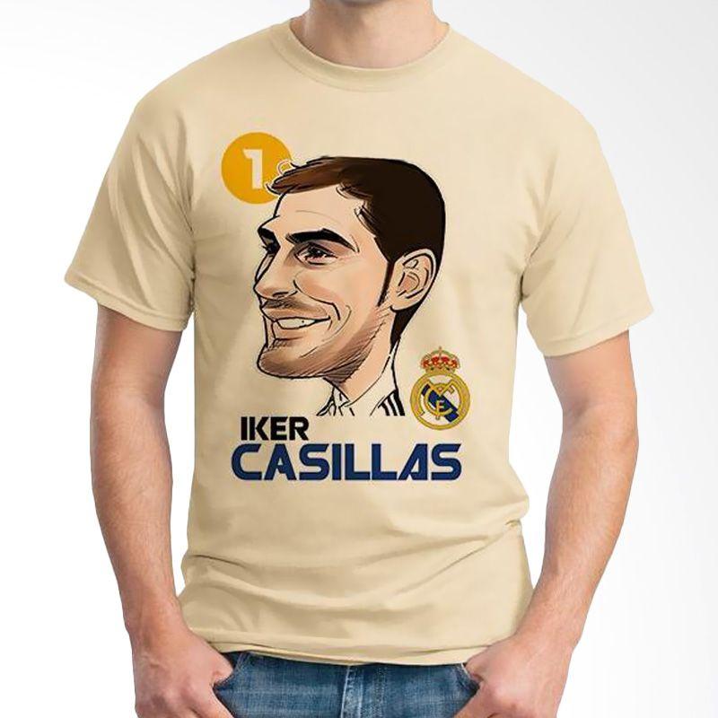 Ordinal Football Player Edition Casillas 12 Coklat Krem Kaos Pria