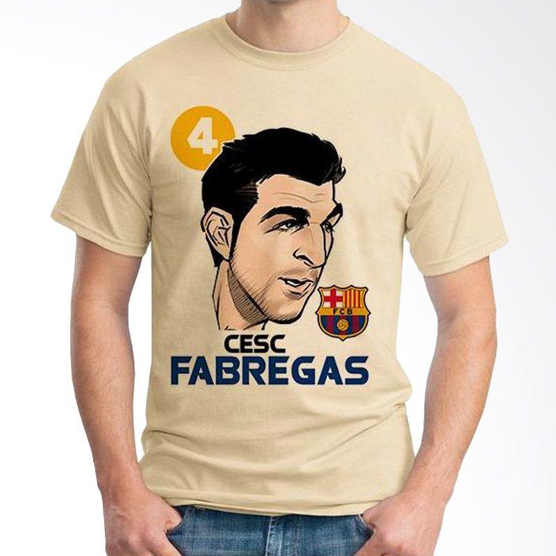 Ordinal Football Player Edition Fabregas 25 Coklat Krem Kaos Pria