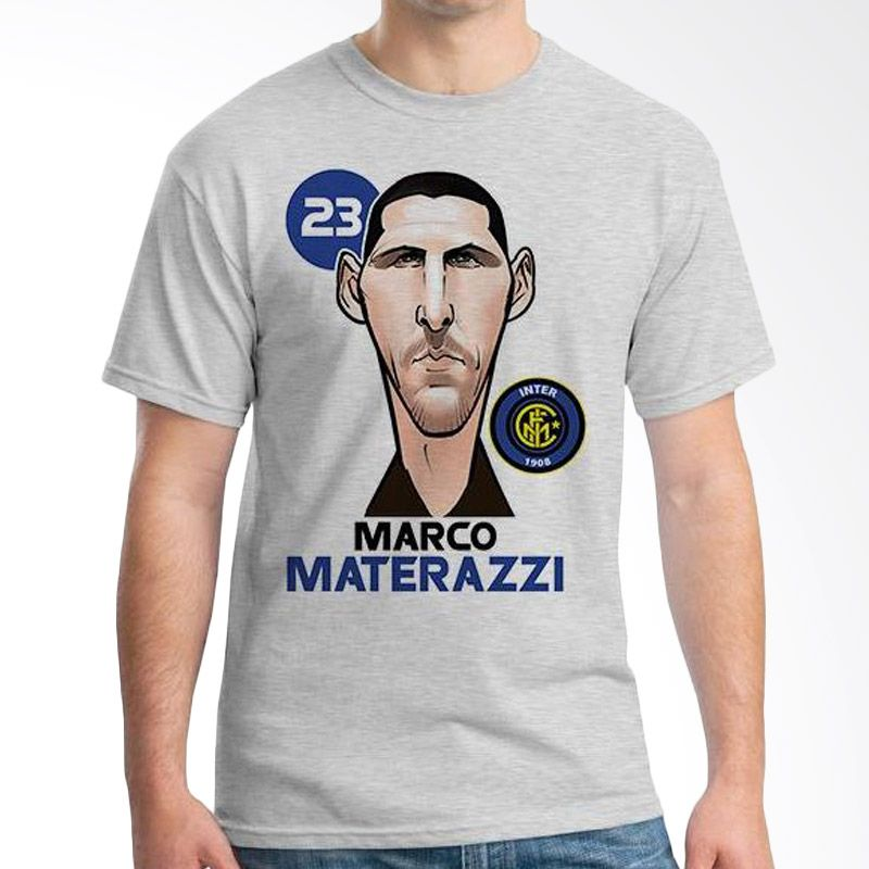 Ordinal Football Player Edition Materazzi 44 Abu-abu Kaos Pria