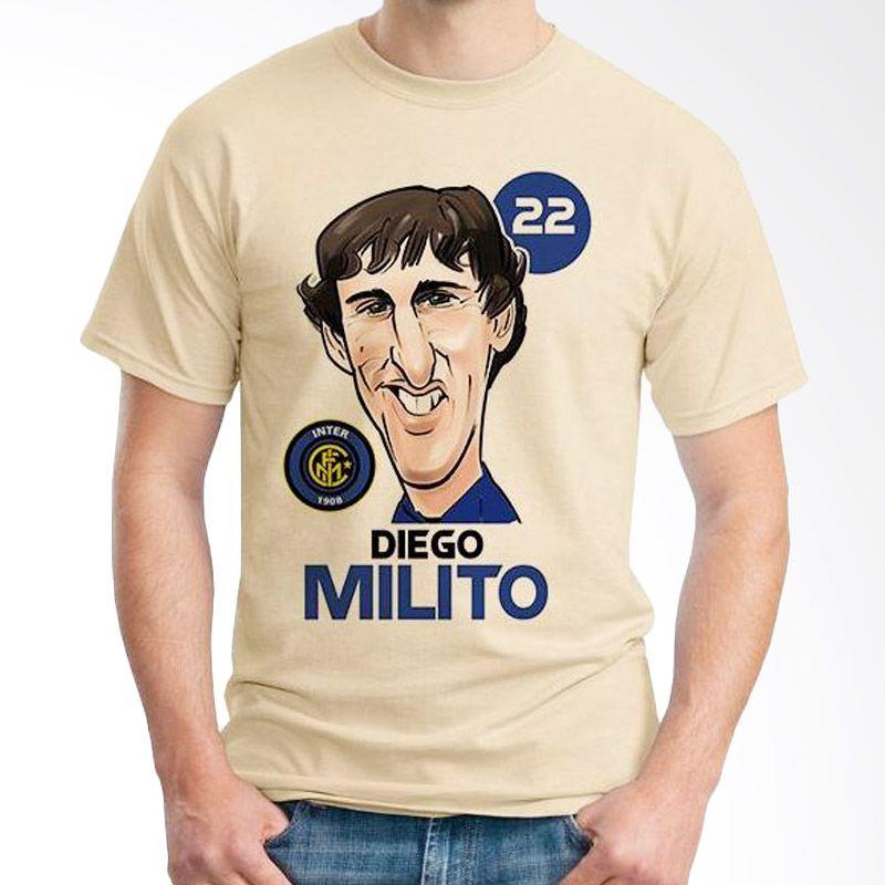 Ordinal Football Player Edition Milito 48 Coklat Krem Kaos Pria