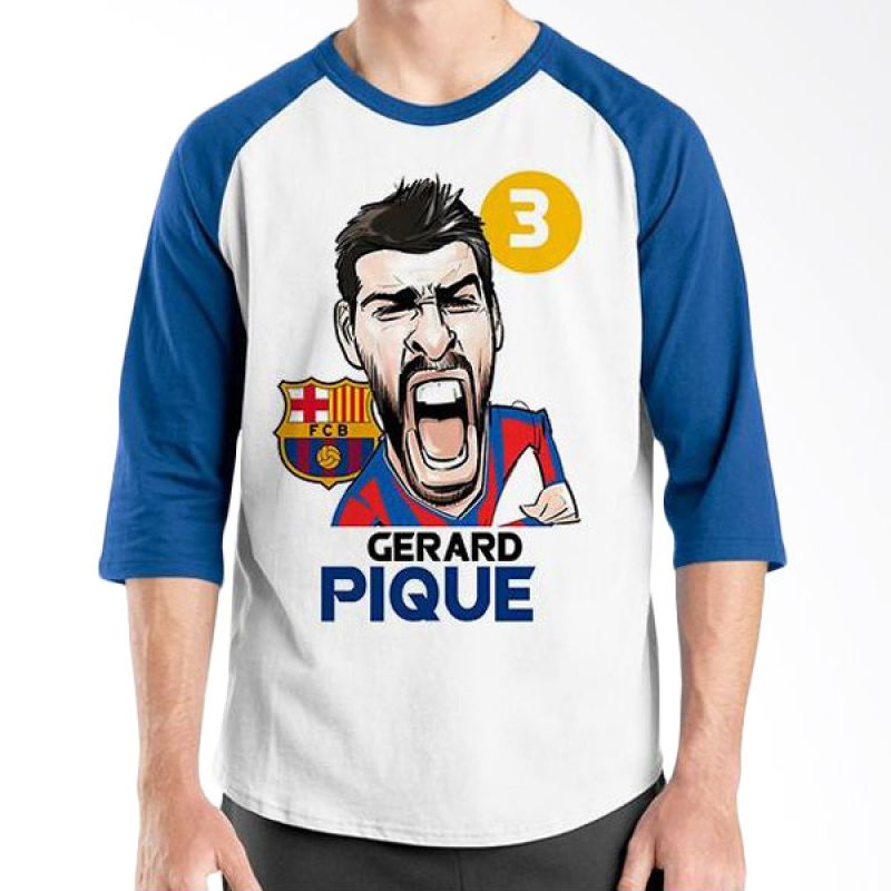 Ordinal Football Player Edition Pique Raglan Biru Putih T-Shirt Pria