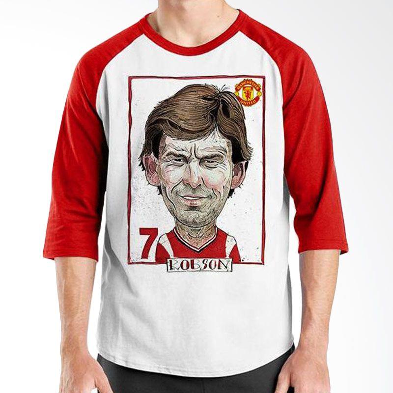 Ordinal Football Player Edition Robson Raglan Merah Putih T-Shirt Pria