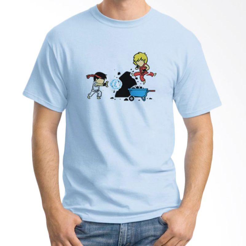 Ordinal Funny Superheroes Edition 04 Biru Muda T-Shirt Pria