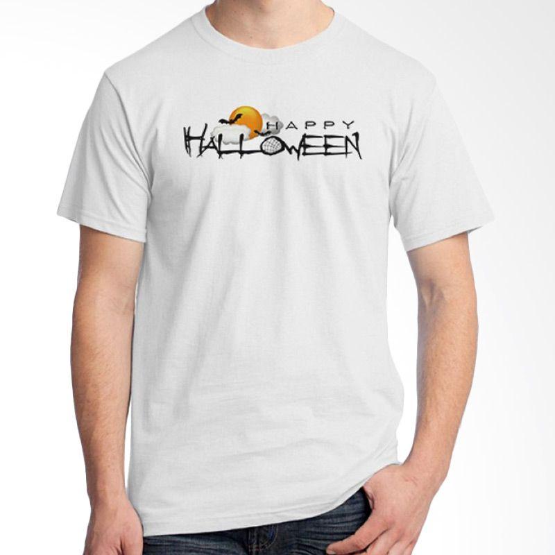 Ordinal Happy Halloween 08 Putih Kaos Pria