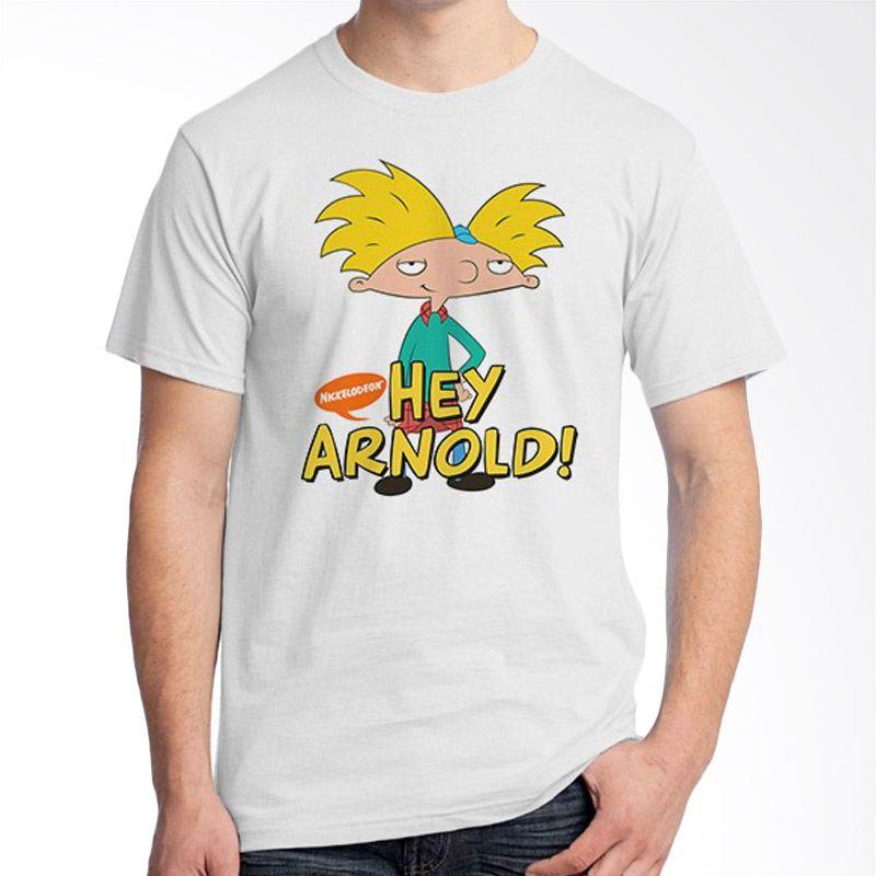Ordinal Hey Arnold Putih Kaos Pria