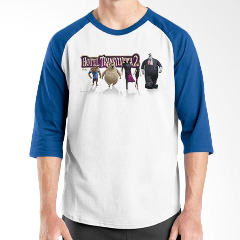 Ordinal Hotel Transylvania Edition 02 Raglan Biru Putih T-Shirt Pria