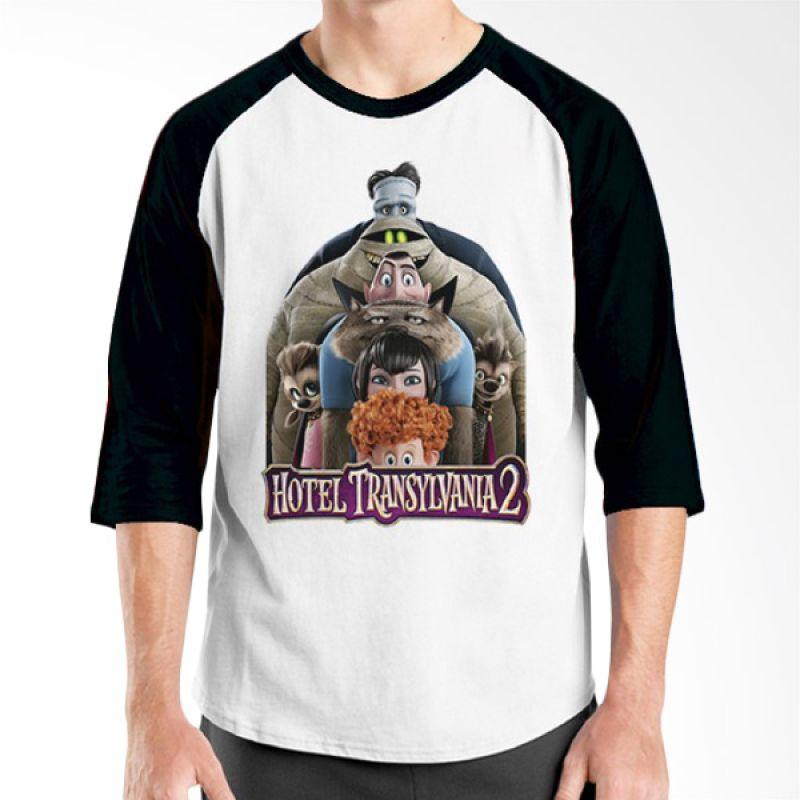 Ordinal Hotel Transylvania Edition 03 Raglan Hitam Putih T-Shirt Pria
