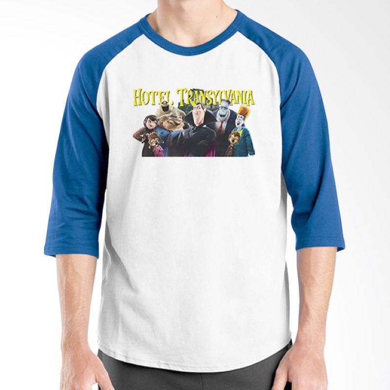 Ordinal Hotel Transylvania Edition 13 Raglan Biru Putih T-Shirt Pria
