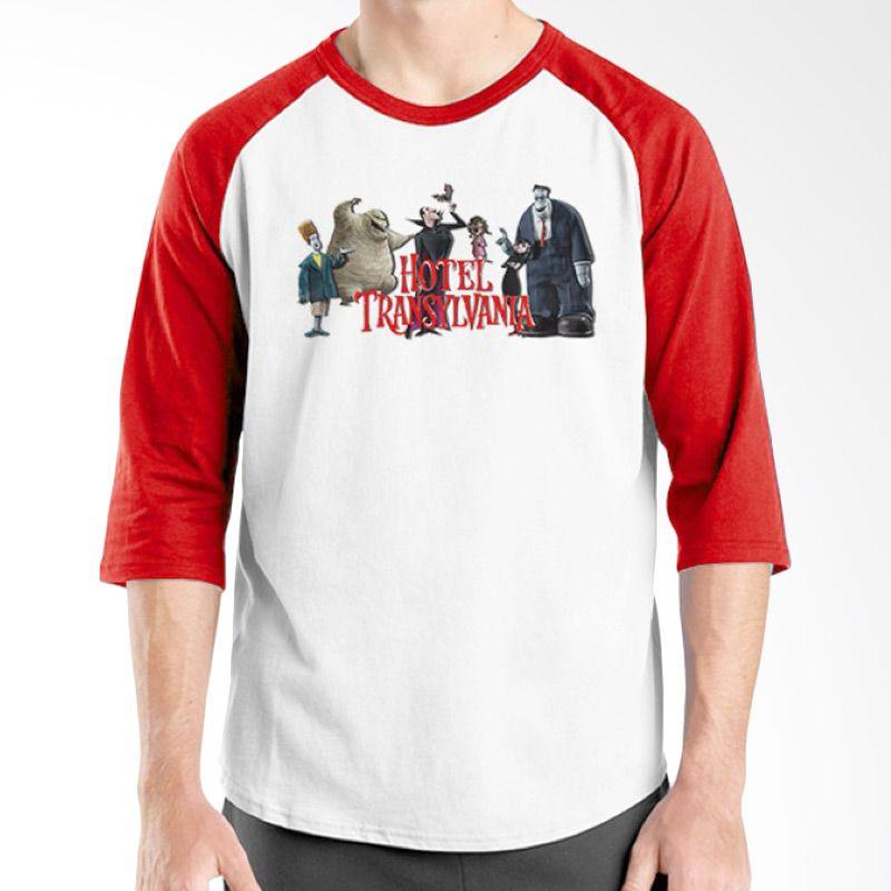 Ordinal Hotel Transylvania Edition 14 Raglan Merah Putih T-Shirt Pria