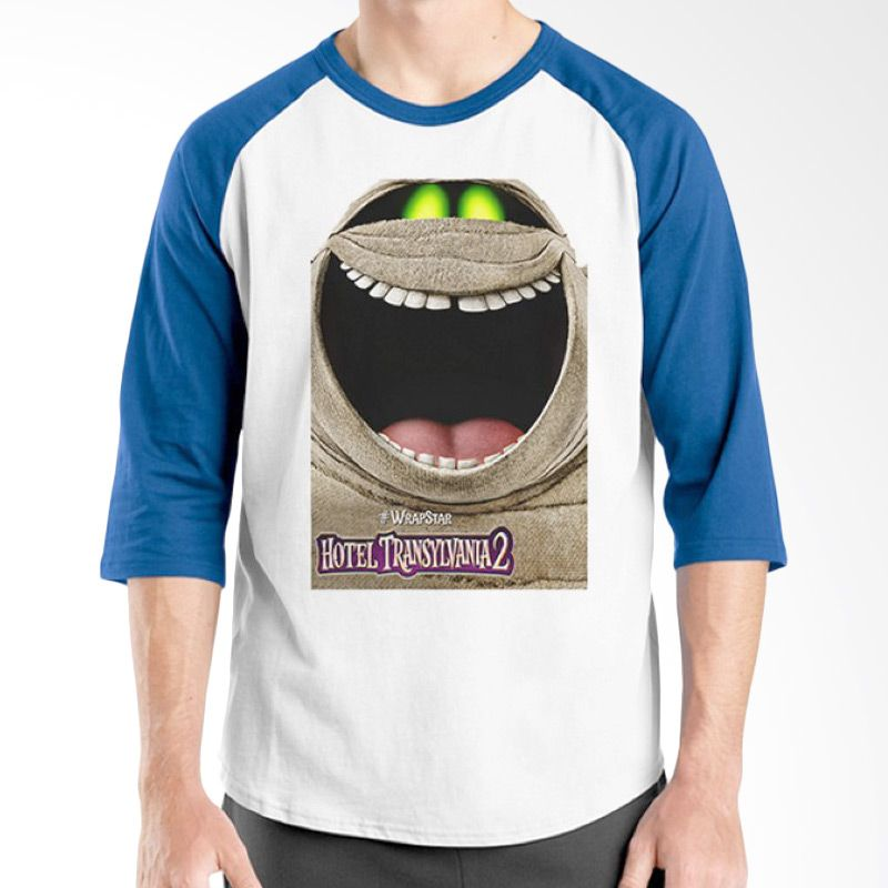 Ordinal Hotel Transylvania Edition 15 Raglan Biru Putih T-Shirt Pria