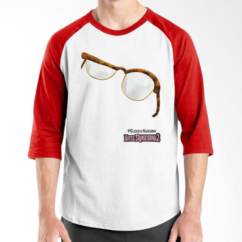 Ordinal Hotel Transylvania Edition 19 Raglan Merah Putih T-Shirt Pria