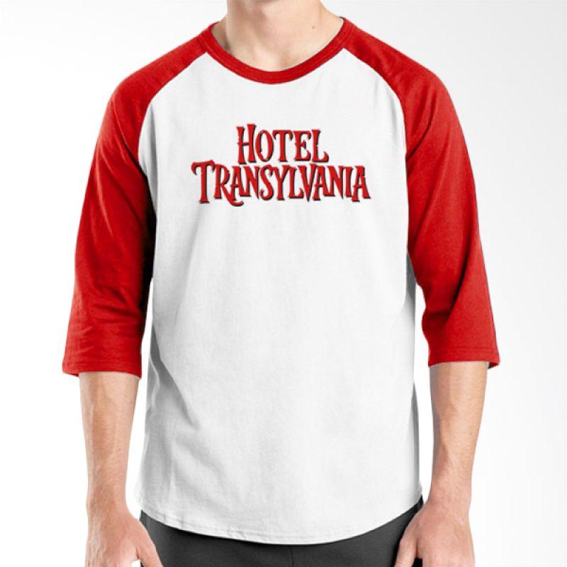 Ordinal Hotel Transylvania Edition 22 Raglan Merah Putih T-Shirt Pria