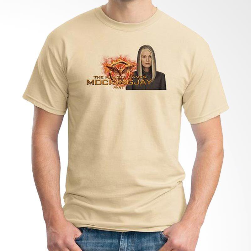 Ordinal Hunger Games 03 Krem T-Shirt Pria