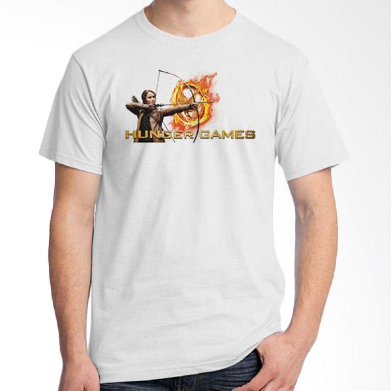 Ordinal Hunger Games 05 Putih T-Shirt Pria