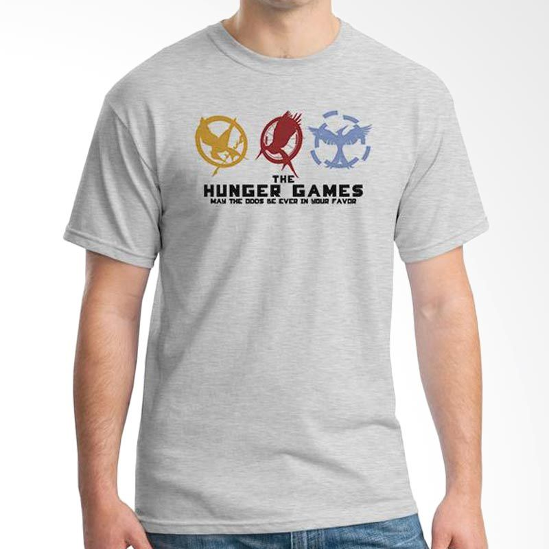 Ordinal Hunger Games 06 Abu-abu T-Shirt Pria