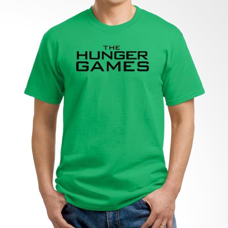 Ordinal Hunger Games Logo 02 Hijau T-Shirt Pria