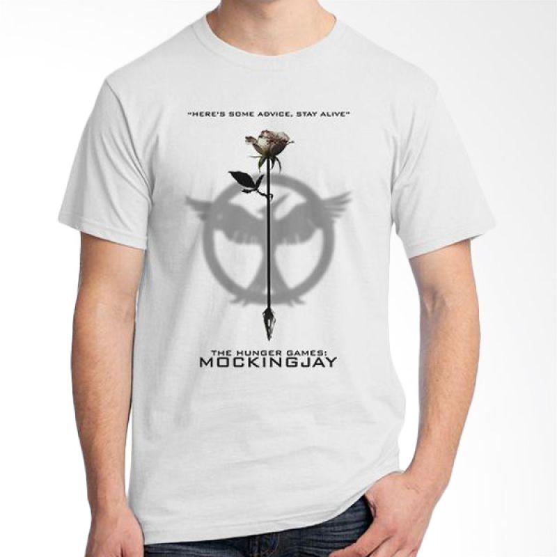 Ordinal Hunger Games Quote 05 Putih T-Shirt Pria