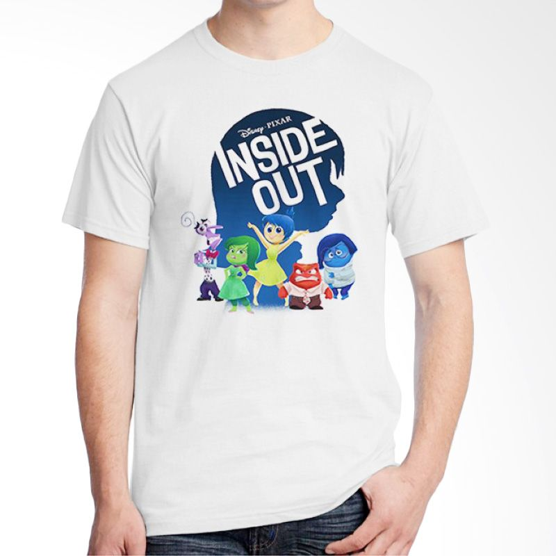 Ordinal Inside Out 01 Putih Kaos Pria