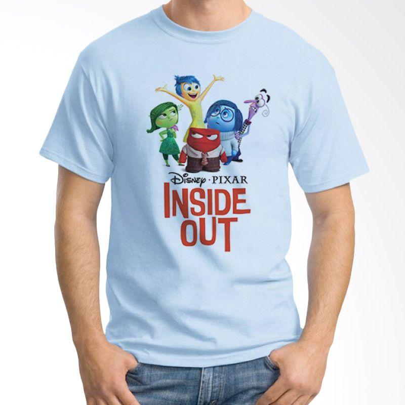 Ordinal Inside Out 03 Biru Muda Kaos Pria