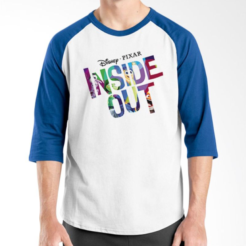 Ordinal Inside Out Edition17 Raglan Biru Putih T-Shirt Pria