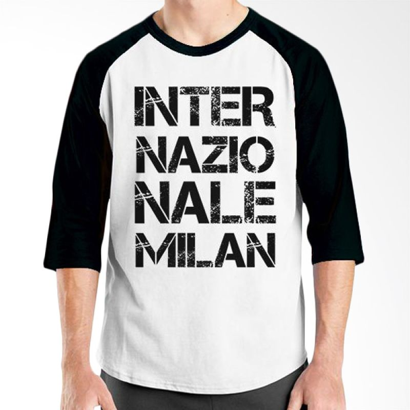 Ordinal Inter Milan Edition 01 Raglan Hitam Putih T-Shirt Pria